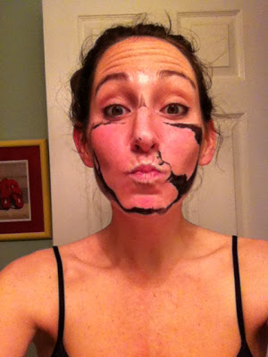 You've got some tar on your face