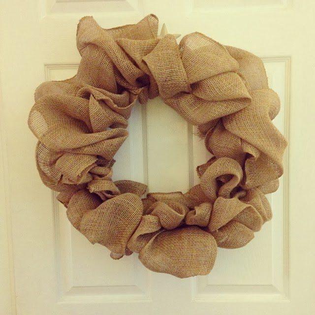 Easy Burlap Wreaths