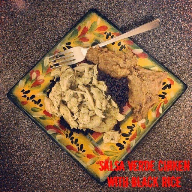 Salsa Verde Chicken with Black Rice