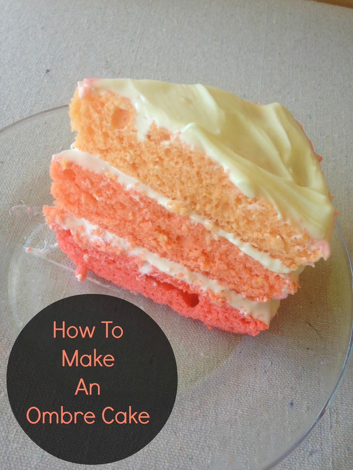 Coral Ombre Cake