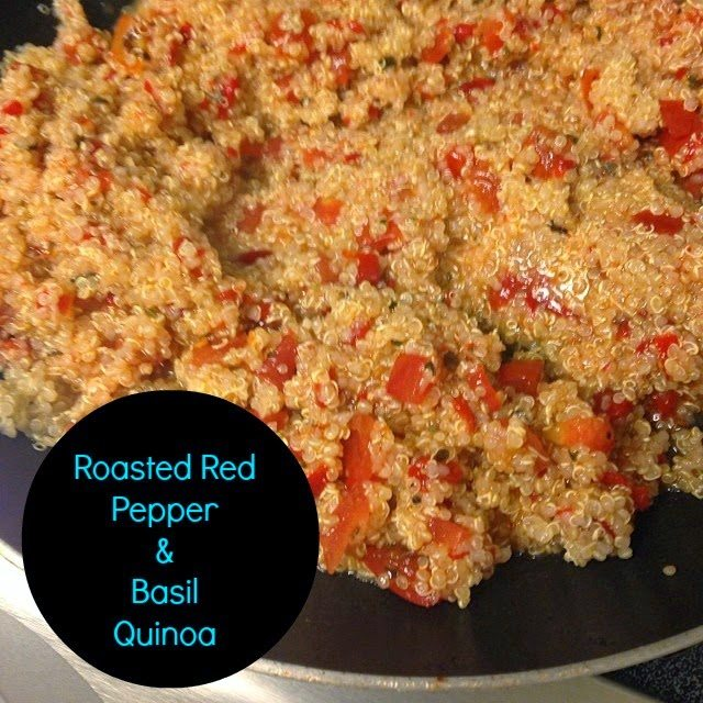 Roasted Red Pepper & Basil Quinoa