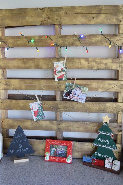 DIY: Pallet Christmas Card Holder