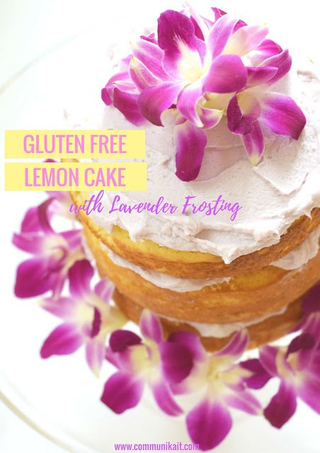 Gluten Free Lemon Cake With Lavender Frosting