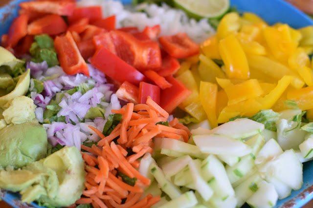 Summer Salad & Smoked Buffalo Cauliflower