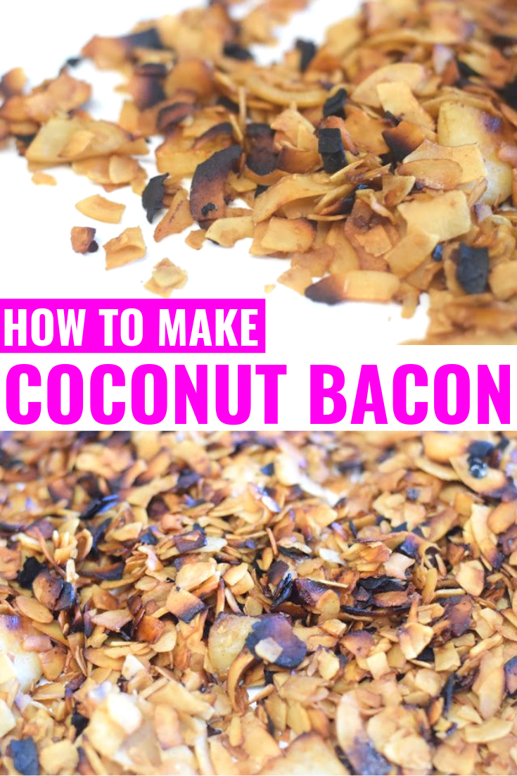 How To Make Coconut Bacon - Coconut Bacon Recipe - Easy Coconut Bacon - Vegan Coconut Bacon - Bacon Made From Coconut - What Is Coconut Bacon - Vegetarian Bacon - Communikait by Kait Hanson #vegetarian #coconutbacon
