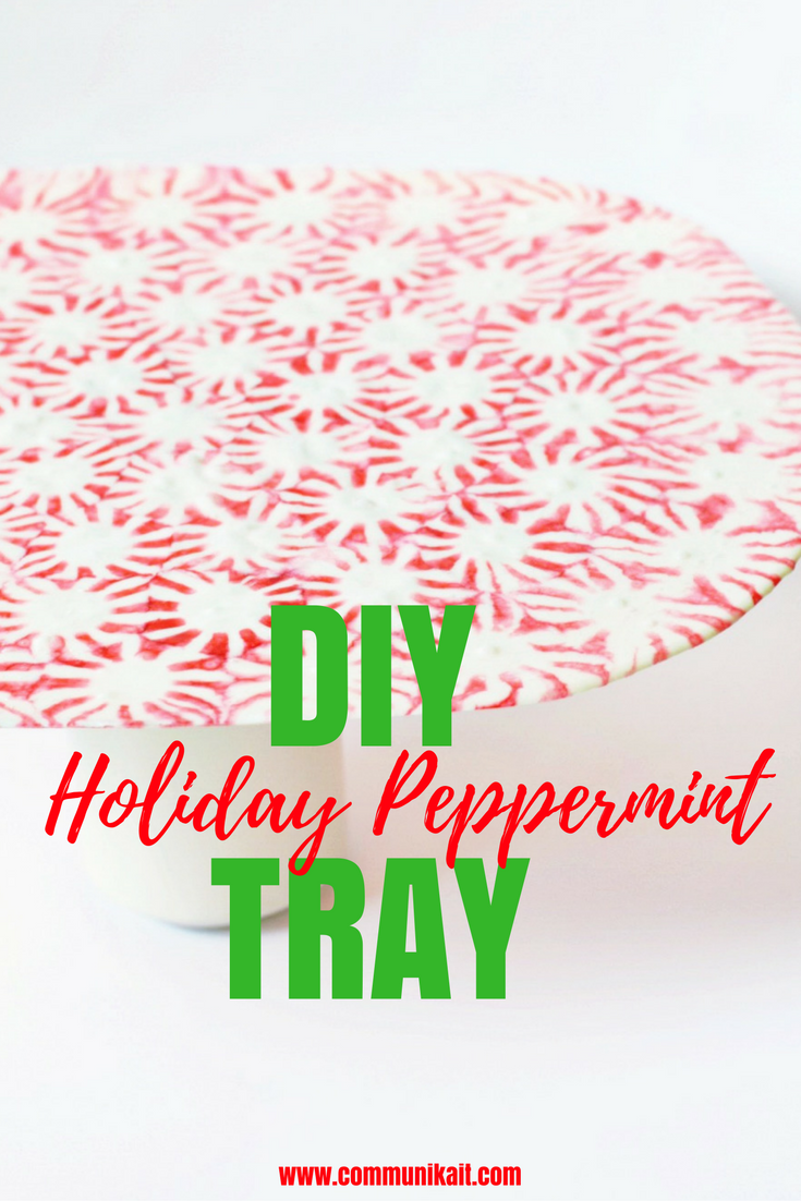DIY Holiday Peppermint Platter - Holiday Craft - Peppermint Tray - Peppermint Platter - Santa Plate - DIY Christmas Craft - Christmas - Holiday - Peppermint Craft - #christmas #holiday #DIY #starlightmints