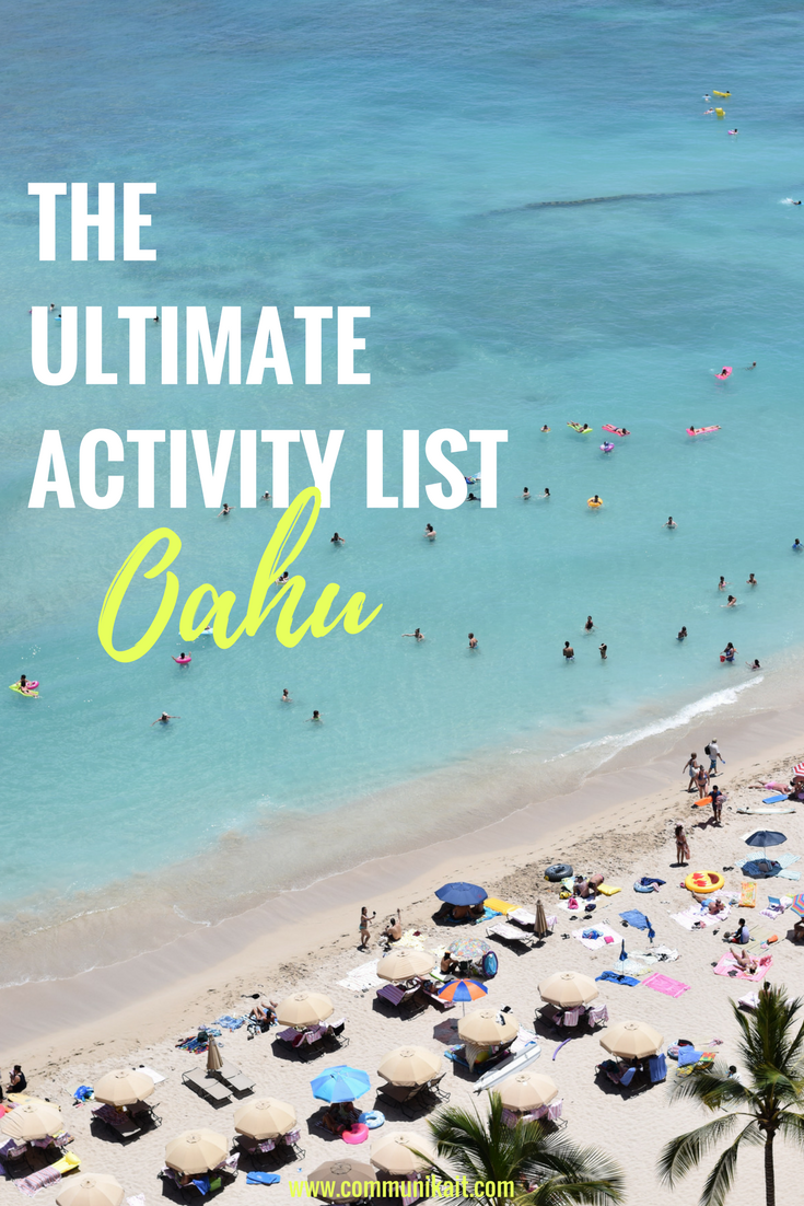 THE ULTIMATE ACTIVITY LIST FOR OAHU