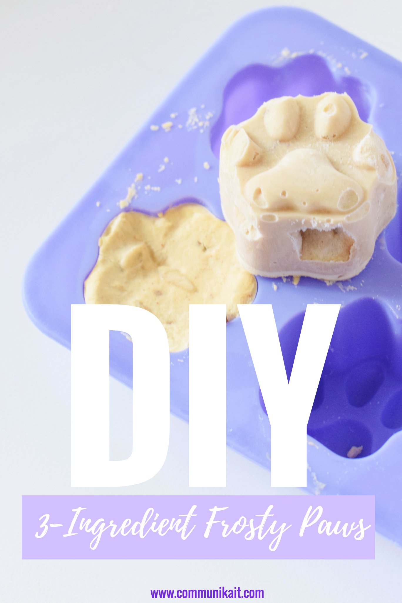 DIY Frosty Paw Dog Treats
