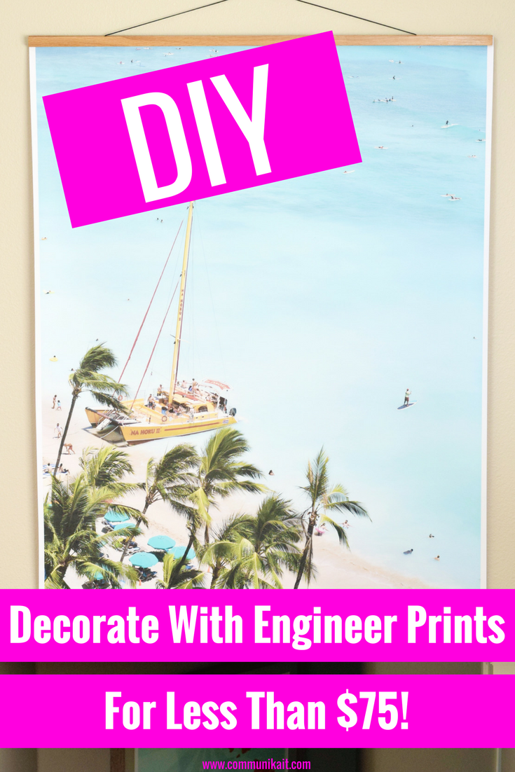 Decorating Hack: Engineer Prints -DIY - Communikait