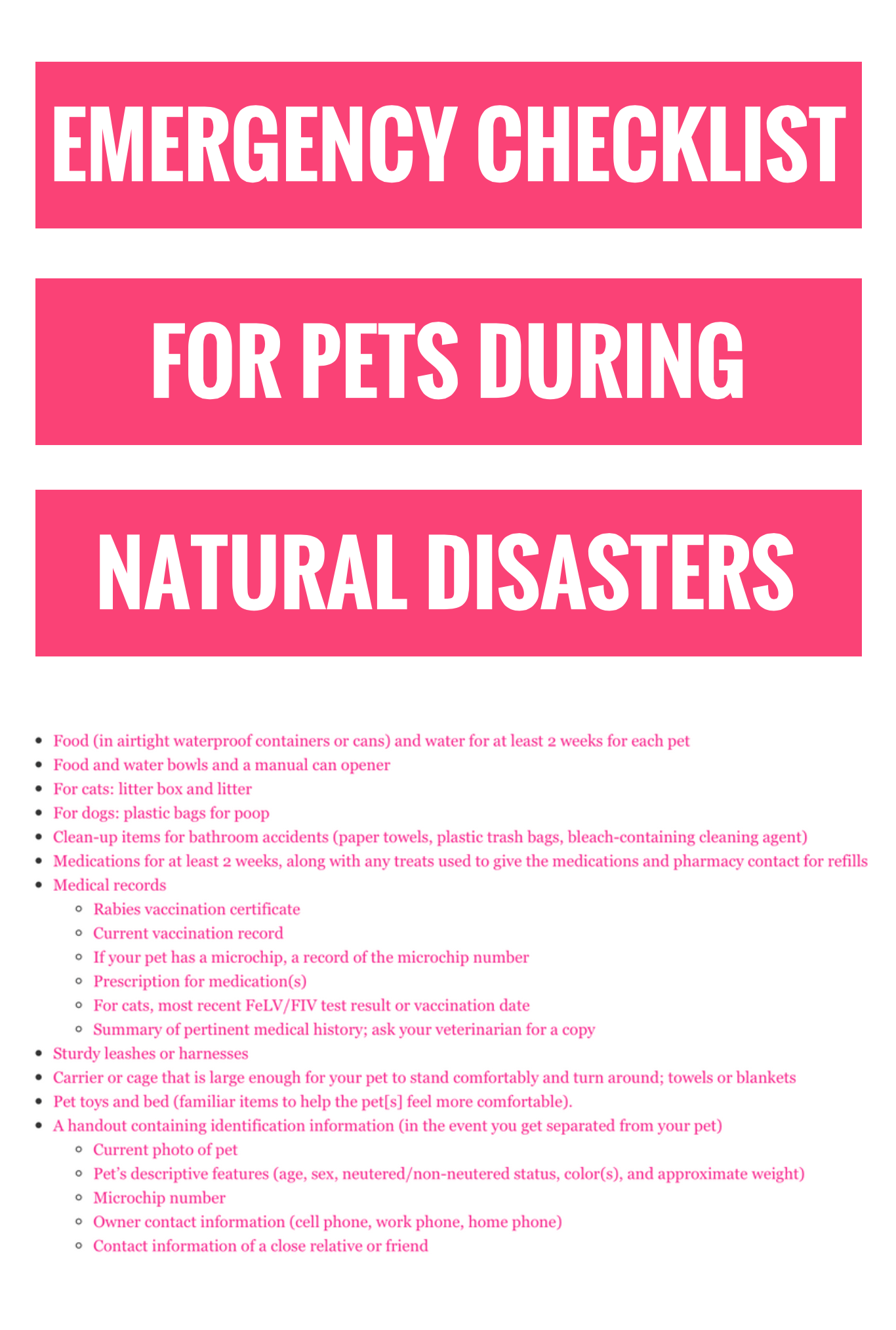 Keeping Your Pet Safe During Natural Disasters