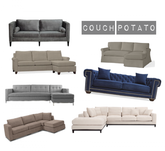 Couch Brainstorming - Grey Couches - Grey Blue Interior Design - Communikait by Kait Hanson