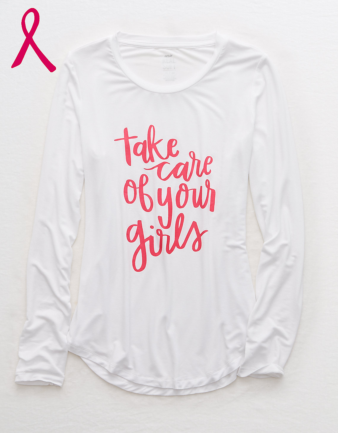 Aerie Supports Tee - 20 Brands Helping Battle Breast Cancer - Breast Cancer Research - Giving Back - Paying It Forward - Breast Cancer Awareness - Companies That Donate To Charity - Think Pink In October - October Breast Cancer Month - Communikait by Kait Hanson
