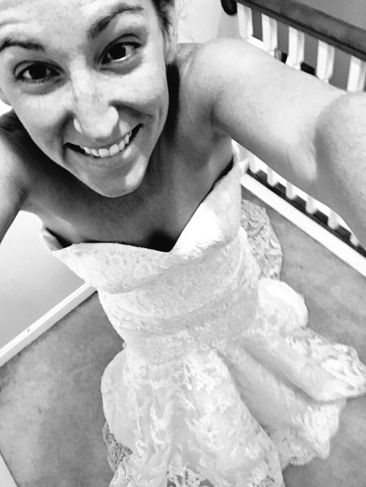 Wedding Dress - Wedding Dress Selfie - Wedding Gown Photo - Mermaid Wedding Lace Gown - Communikait by Kait Hanson