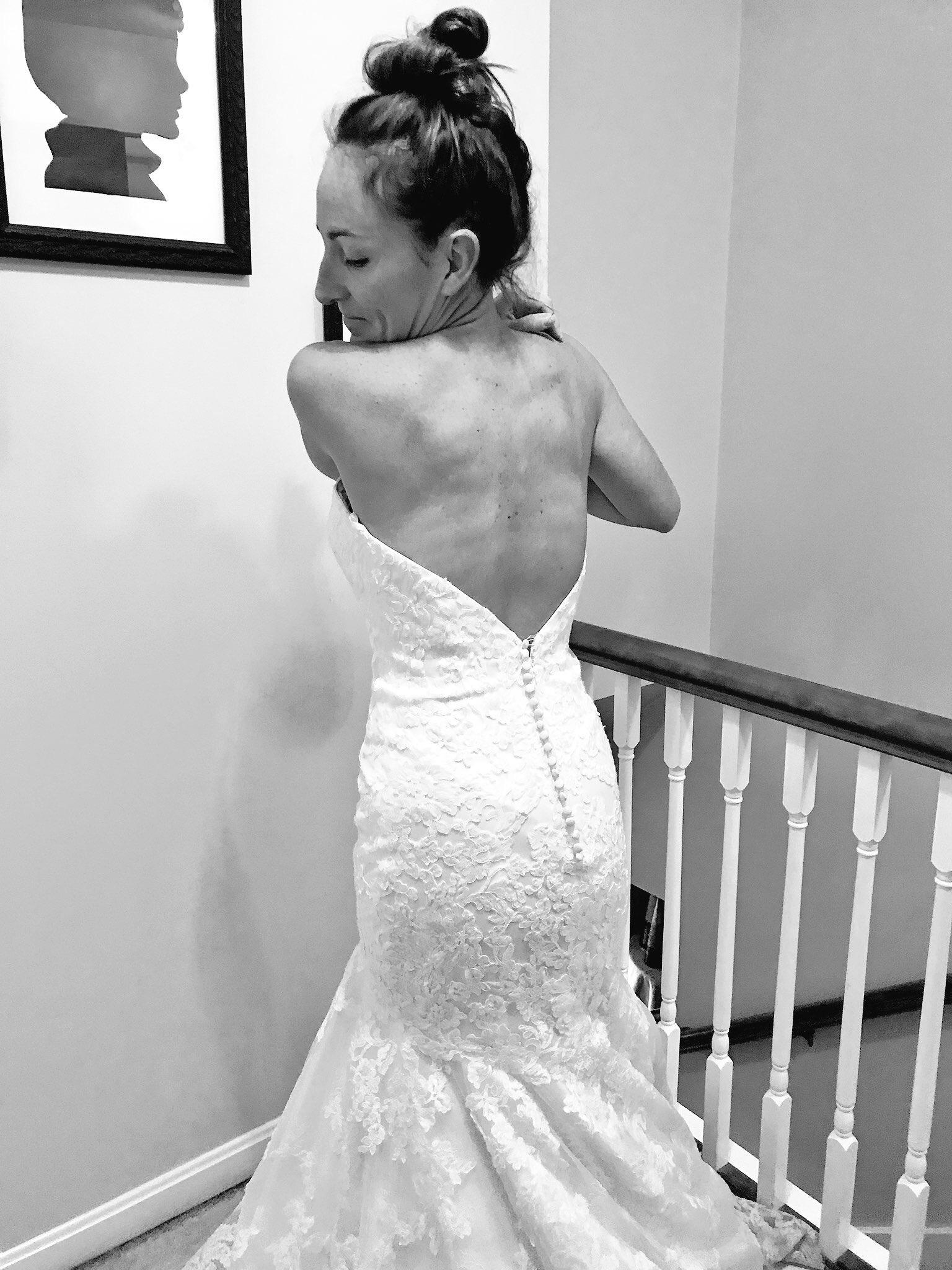 Wedding Dress - Wedding Dress Selfie - Wedding Gown Photo - Mermaid Wedding Lace Gown - Communikait by Kait Hanson