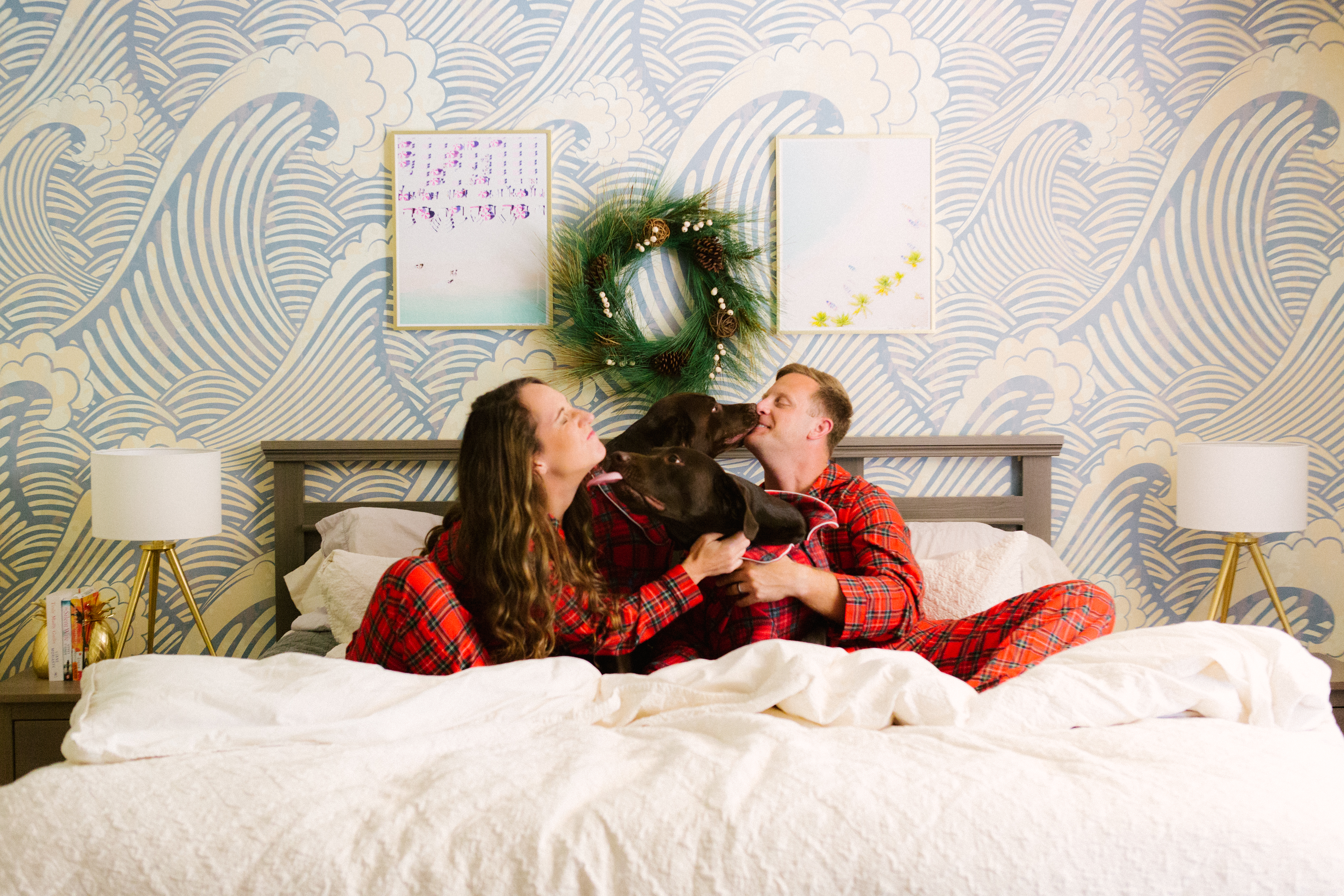 Our 2017 Christmas Card Reveal - Family Photos In Christmas Pajamas - Dogs In Pajamas - Christmas Pajamas - Matching Family Pajamas - Communikait by Kait Hanson