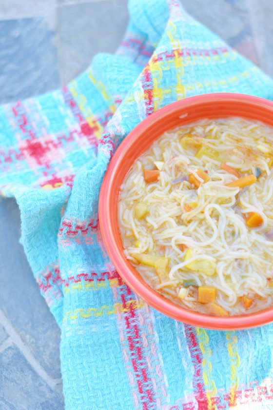 Thai Noodle Soup is the best remedy to any sickness or to warm up on a cold day! - Thai Noodle Soup - Easy Noodle Soup Recipe - Vegetarian Noodle Soup - Asian Soup Recipe - Easy Vegetarian Soup