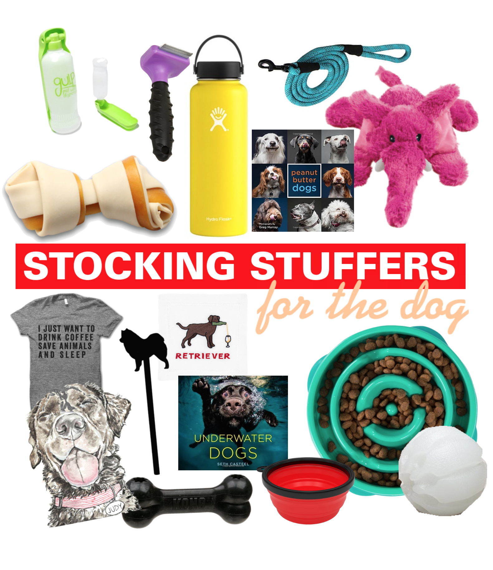 Stocking Stuffers For The Dog - 2017 Christmas Stocking Stuffers - Stocking Stuffer Ideas - Holiday Gift Ideas For Dog Lovers - Gifts For Animal Lovers - Communikait by Kait Hanson