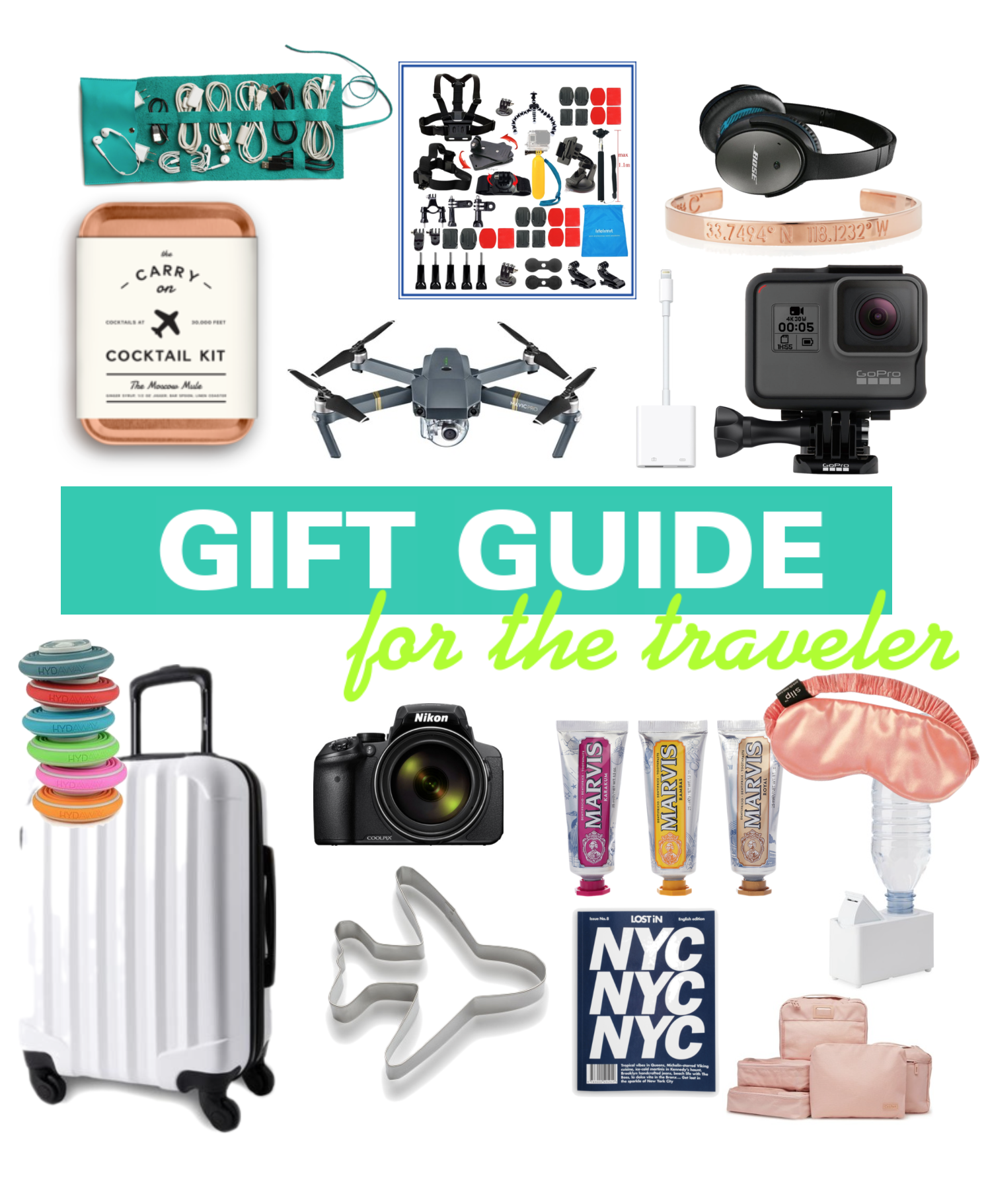 Gift Guide For The Traveler - 2017 Christmas Stocking Stuffers - Stocking Stuffer Ideas - Holiday Gift Ideas For Travelers - Gifts For Travel Lovers - Travel Ideas - Travel Packing List - Communikait by Kait Hanson