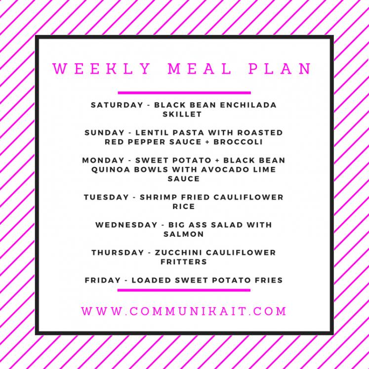 Meal Planning + What We Ate Last Week