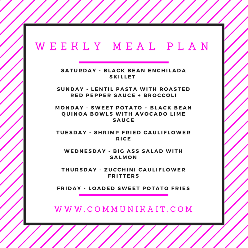 Meal Planning + What We Ate Last Week - Communikait by Kait Hanson