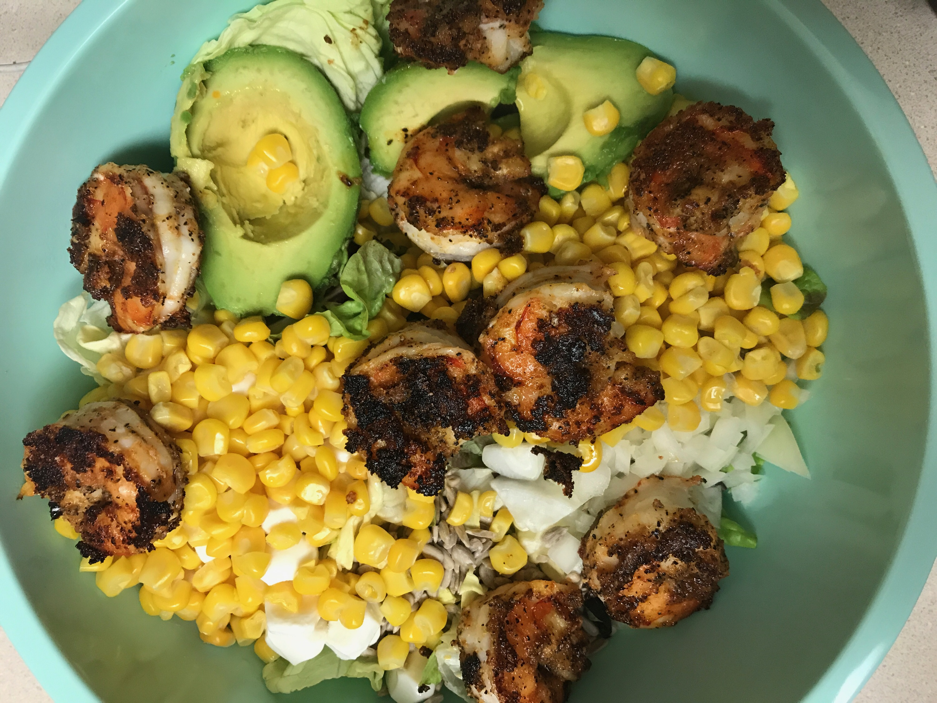 Blackened Shrimp Salad - Meal Planning + What We Ate Last Week - Communikait by Kait Hanson