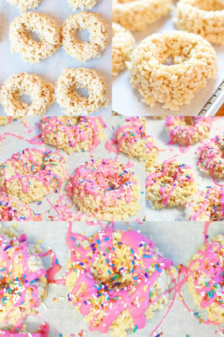 Rice Krispie Doughnuts For Valentine's Day
