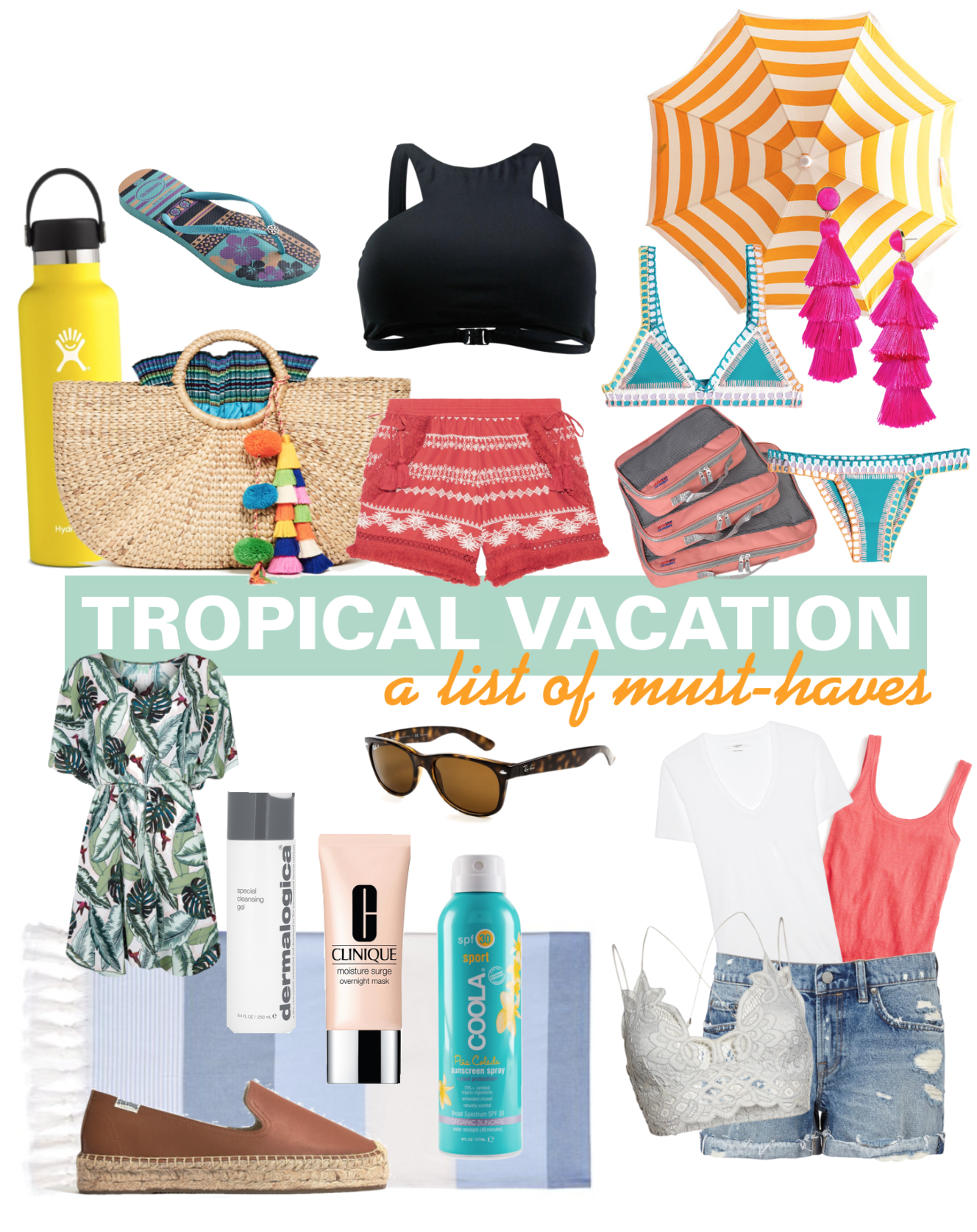 Tropical Vacation Must Haves - What To Pack For Hawaii - Packing List For Beach Trip - What To Pack For Caribbean - What To Pack For Vacation - What To Wear Hawaii - Communikait by Kait Hanson