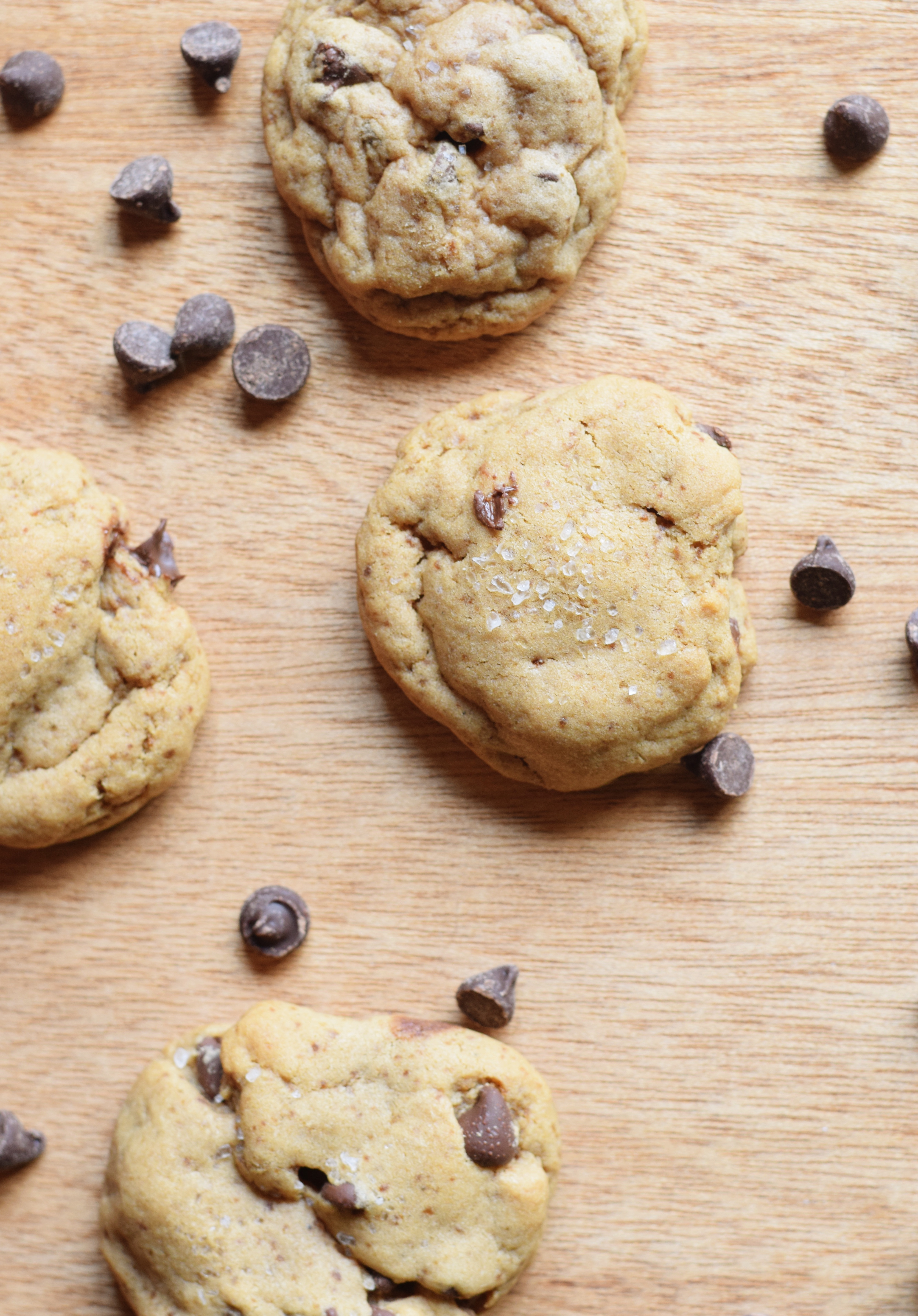 Gluten Free Salted Chocolate Chip Cookies - Easy Gluten Free Cookie Recipe - Gluten Free Cookie Dough - Easy Cookie Recipe - Gluten Free Dessert - Gluten Free Holiday Recipe - Communikait by Kait Hanson