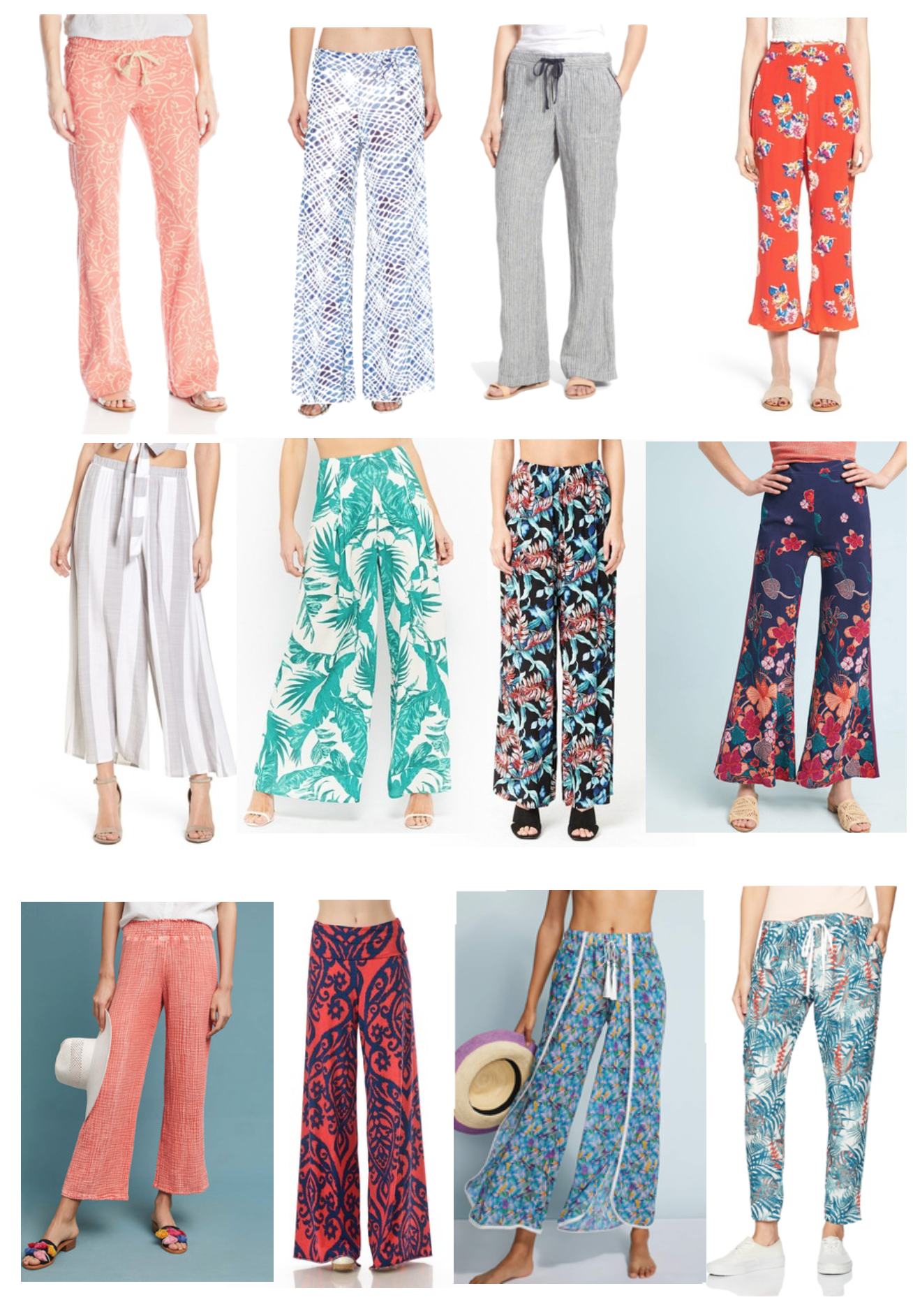Loving Lately: Printed Pants Edition  - Printed Pants For Summer - Fashion - Beach Style - Communikait by Kait Hanson