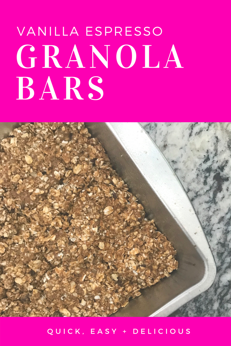 Vanilla Espresso Granola Bars - Homemade Easy Granola Bars - Easy Snack Recipe - Wild Bird Recipe - Healthy No Bake Granola Bar Recipe - Communikait by Kait Hanson