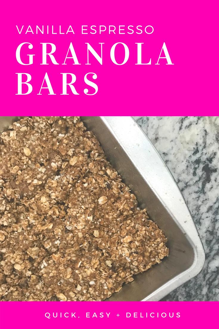 Vanilla Espresso Granola Bars