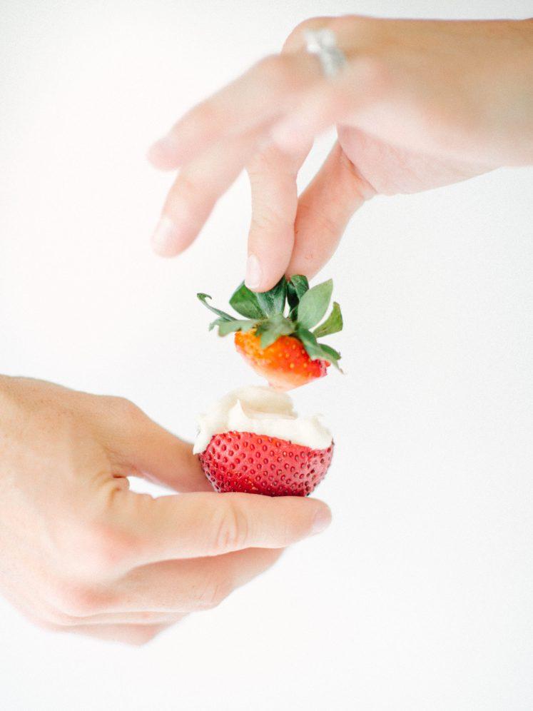 Dairy Free Cheesecake Stuffed Strawberries