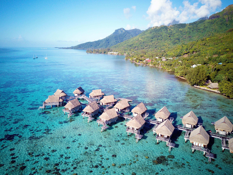 21 Drone Photos of Overwater Bungalows In Tahiti - Overwater bungalows -overwater bungalows caribbean - Overwater bungalows Mexico - Bora Bora Overwater Bungalows - Hotels With overwater bungalows - water bungalows - huts over water - overwater bungalow vacation - overwater bungalow vacation - Tahiti Honeymoon - Honeymoon Trip Ideas - Communikait by Kait Hanson #overwaterbungalows #honeymoon #tahiti #frenchpolynesia #moorea #borabora #tahaa #bestresorts