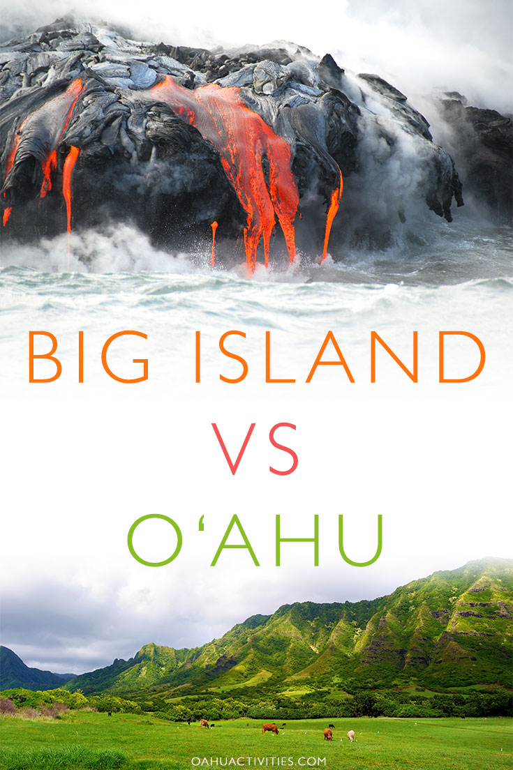 Oahu vs. The Big Island - Big Island or Oahu - Oahu vs The Big Island - Which Hawaii Island To Visit - Which Island Is The Big Island In Hawaii - Which Islands To Go To In Hawaii - Hawaii Which Island - Oahu Vacation - Hawaii Vacation - Hawaii Travel Tips - Trip to Hawaii #hawaii #oahu #travel #hawaiitravelblog