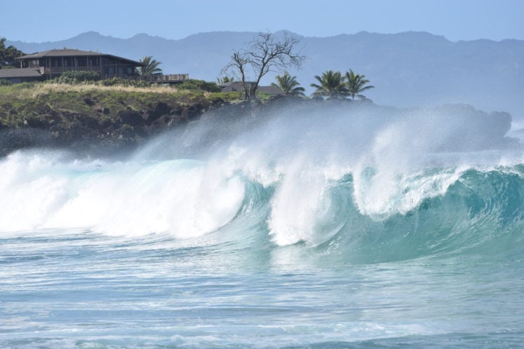 North Shore Hawaii Waves At Waimea Bay