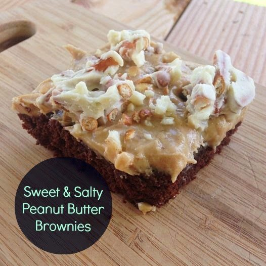 Sweet and Salty Peanut Butter Brownies
