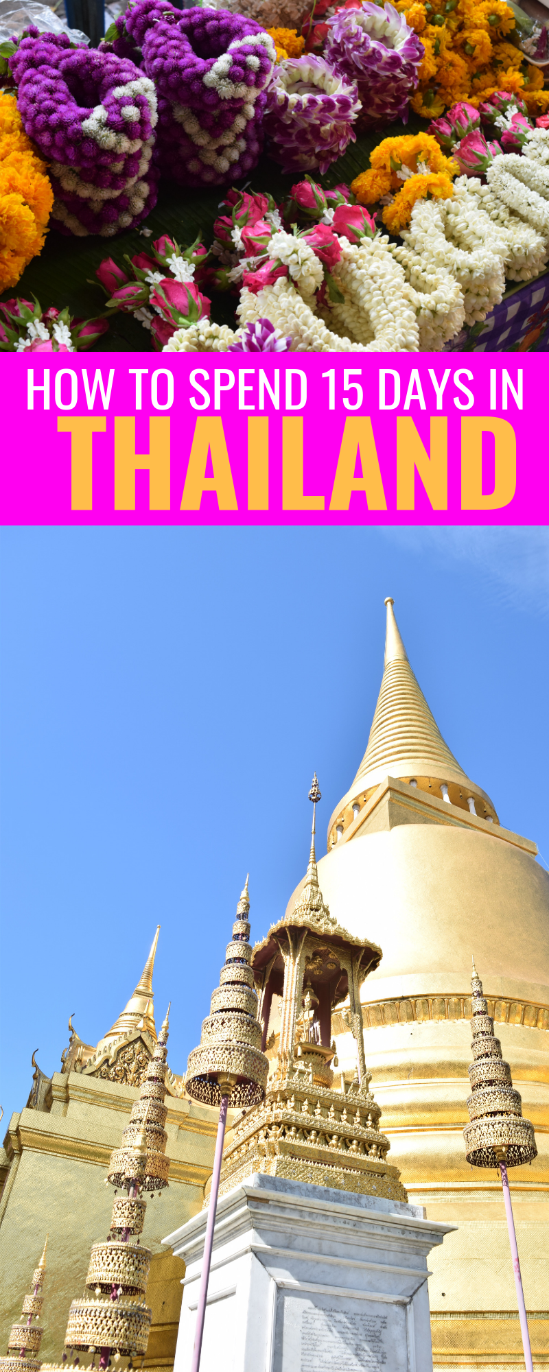 How To Spend 15 Days In Thailand - A complete itinerary for where we visited, where we stayed and sights to see! Thailand Travel - Chiangmai - Phuket - Koh Samui - Thailand Itinerary - How to visit Thailand on a budget - Thailand honeymoon - Where to go in Thailand #thailand #chiangmai #phuket #kohsamui #asia #travel