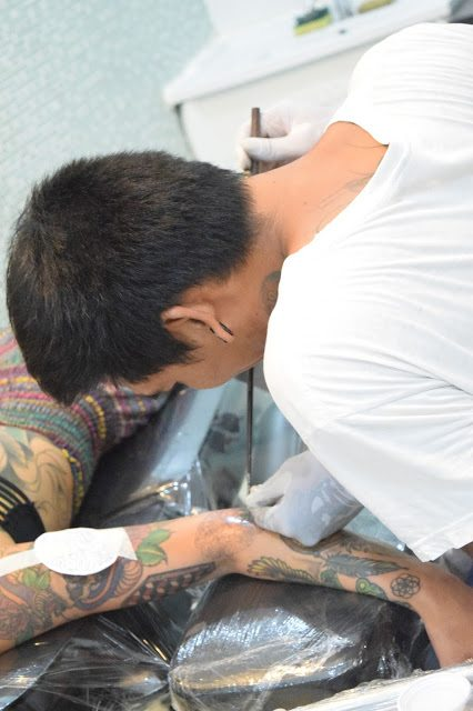 The Bamboo Room: Tattoos In Koh Samui, Thailand - Tattoos In Thailand - Where To Get A Tattoo In Thailand - Traditional Thai Bamboo Tattoo - Bamboo Tattooing - Koh Samui Thailand - Thailand Travel