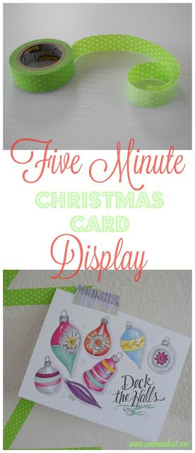 5 Minute Christmas Card Display