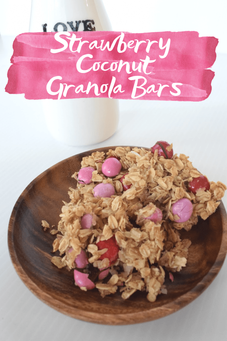 Coconut Strawberry Granola Bars