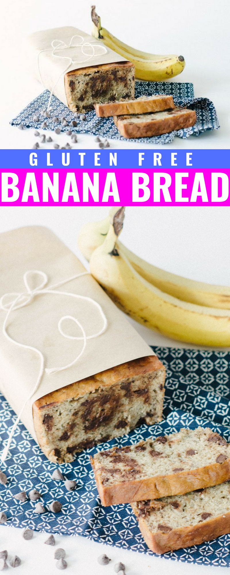 Best Ever Gluten Free Banana Bread - Gluten Free Banana Bread - Banana Bread With Chocolate Chips - GF Banana Bread - GF Dessert - GF Breakfast - How to Make Gluten Free Banana Bread - Easy Gluten Free Banana Bread - Communikait by Kait Hanson #glutenfreebananabread #bananabread #glutenfreebreakfast #breakfast #bananabread #recipe