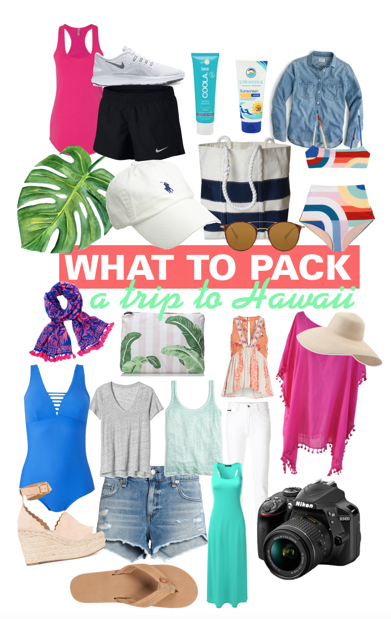 What To Pack For Hawaii - Packing List For Hawaii - Oahu Kauai Maui - What Should I Pack For My Honeymoon - Outfit Ideas For Hawaii - Communikait by Kait Hanson