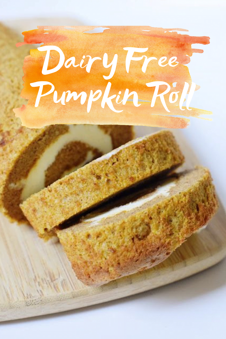 Dairy Free Pumpkin Roll - Pumpkin Roll - Pumpkin Roll Recipe - Libbys Pumpkin Roll Dairy Free - Gluten Free Pumpkin Roll Recipe - Thanksgiving Pumpkin Recipe - Libby's Pumpkin Roll - Gluten Free Thanksgiving - Dairy Free Dessert Recipe - #pumpkinroll #dairyfree #glutenfree #fallrecipe #dessert #thanksgiving #pumpkinrecipe