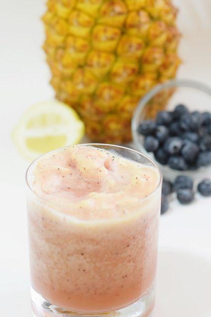 Frozen Blueberry Pineapple Lemonade Cocktail