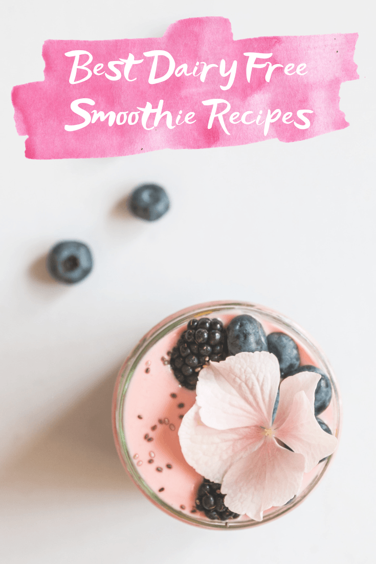 5 Dairy Free Smoothie Recipes To Try - Best Dairy Free Smoothies - 5 dairy free smoothie ideas that are perfect breakfast options for lactose intolerant or dairy averse friends!