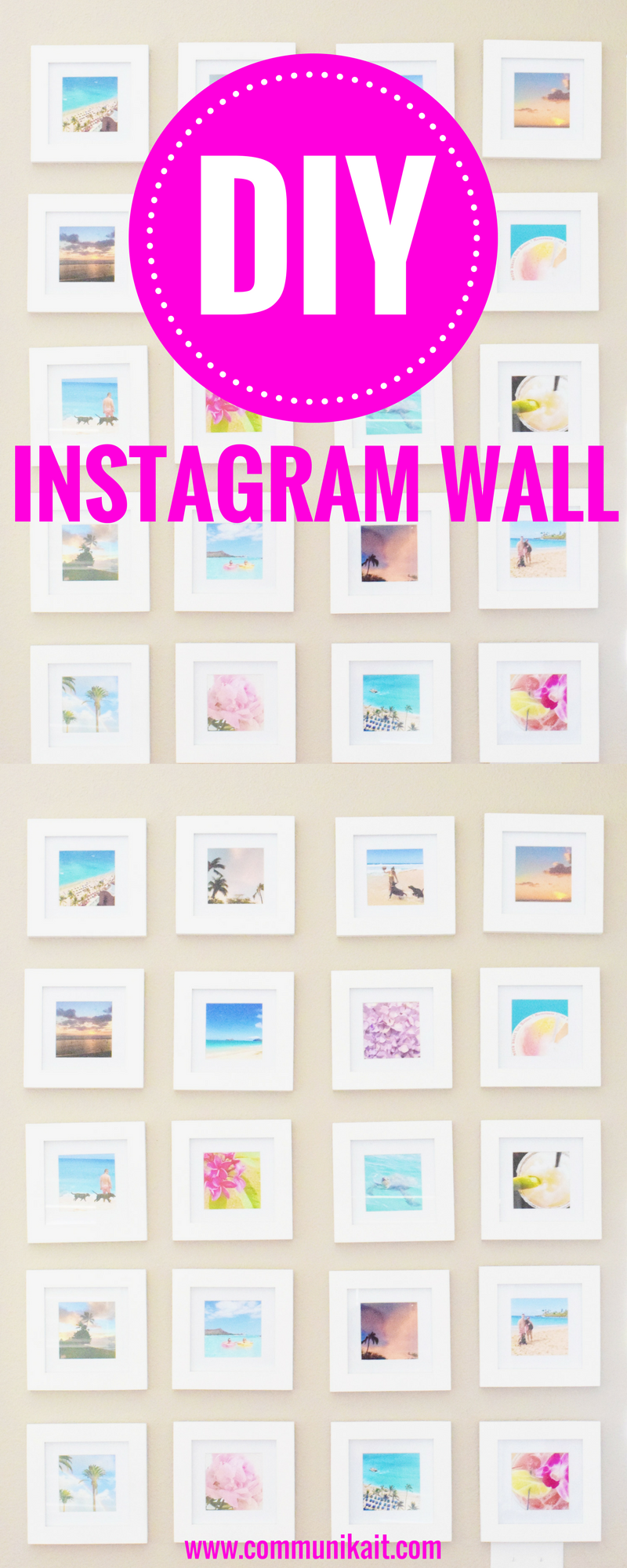 DIY Instagram Wall - a step-by-step guide! - Gallery Wall Ideas - Instagram Wall - How To Hang A Gallery Wall - Gallery Wall Layout - Living Room Gallery Wall - DIY Home Project - Communikait by Kait Hanson