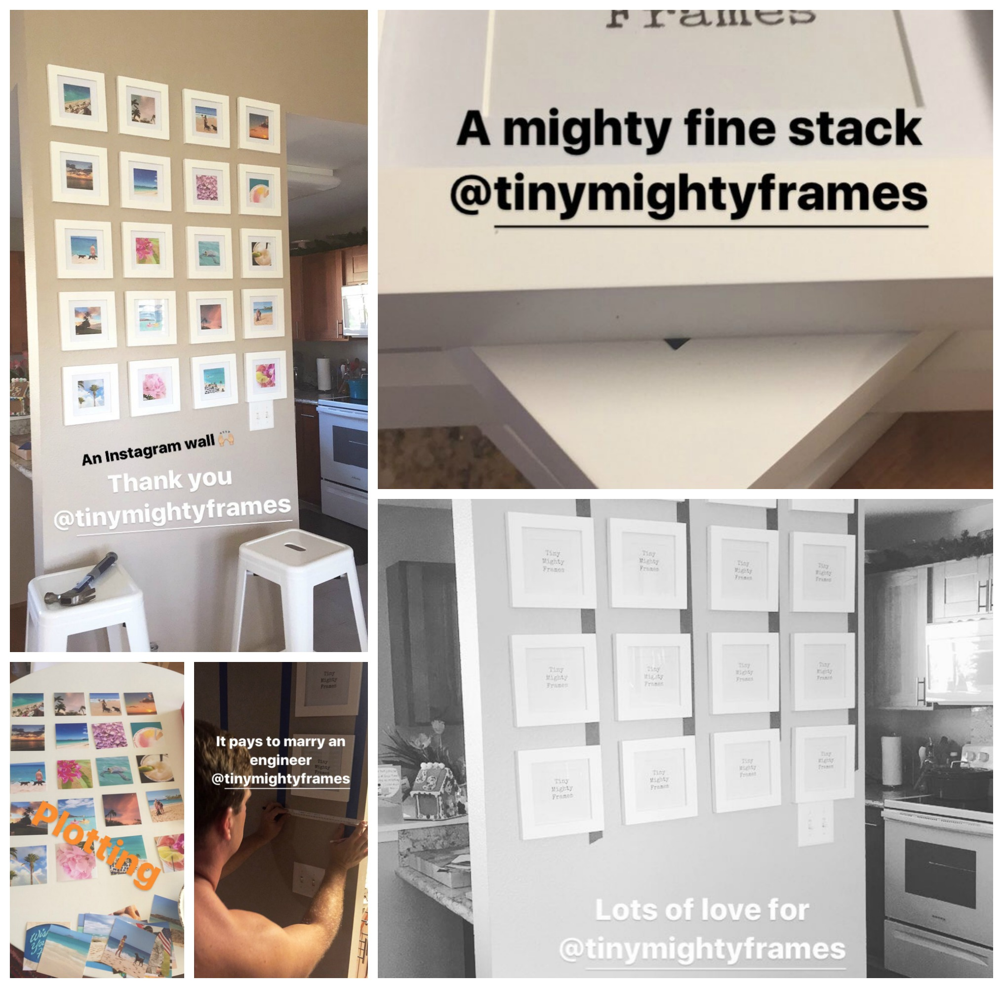 A DIY Instagram Wall With Tiny Mighty Frames