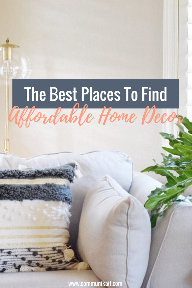 The best places to shop for affordable home decor for Places to get cheap home decor