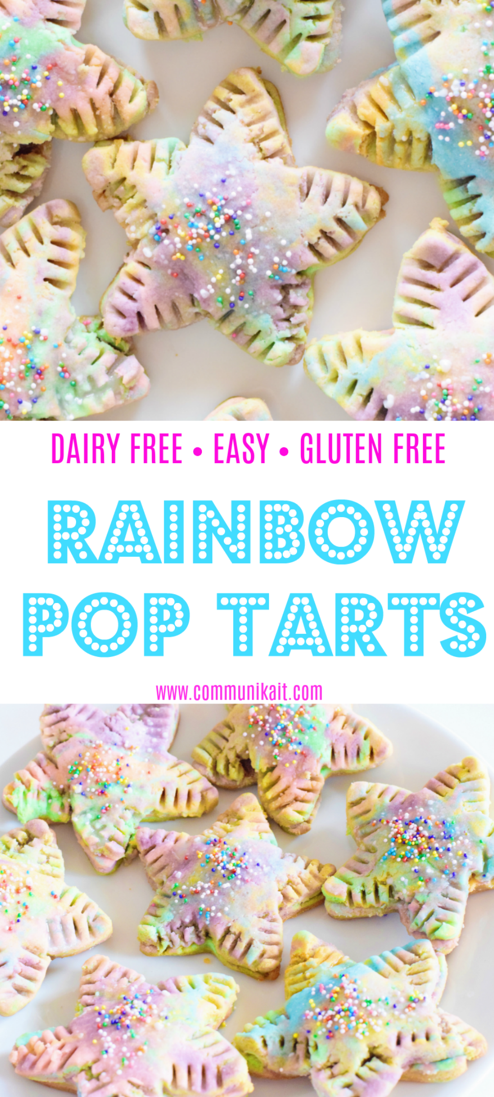 Vitamix Rainbow Pop Tarts - Gluten and dairy free rainbow pop tarts made entirely in your Vitamix - too good not to try! - Homemade Pop Tarts - Easy Pop Tart Recipe - Unicorn Recipe - Rainbow Food - Communikait by Kait Hanson
