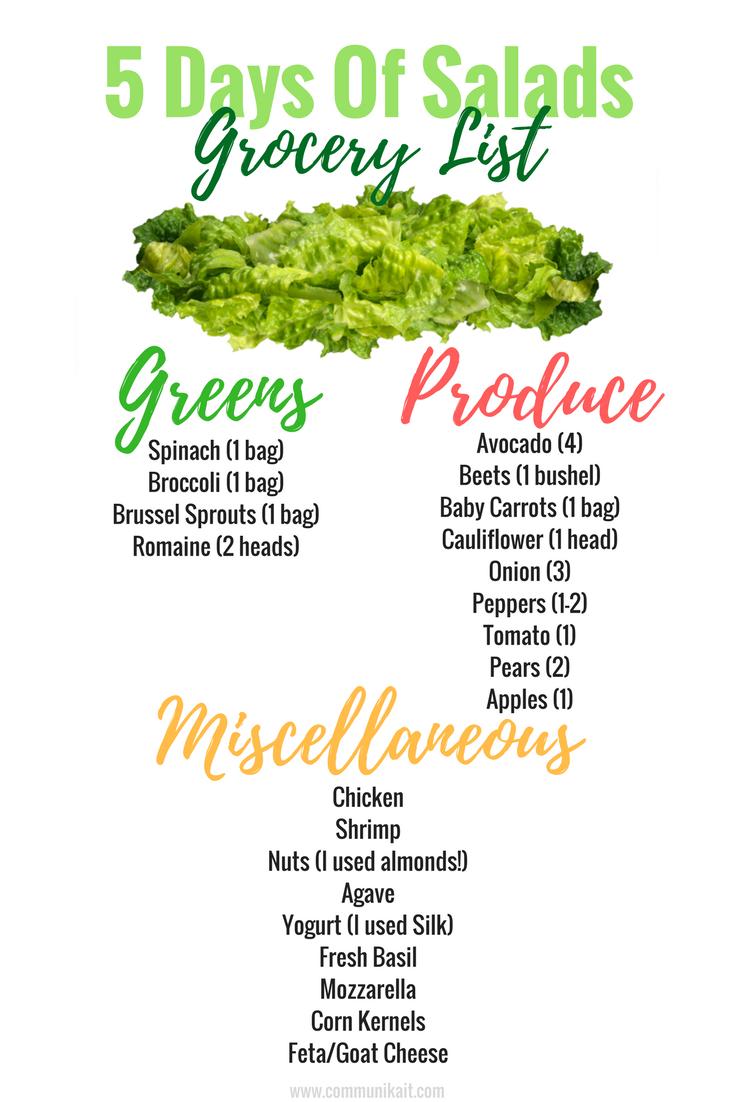 5 Days Of Salads Challenge